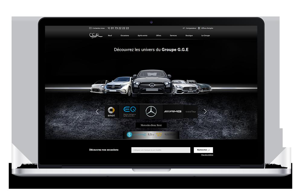 lien vers prévisualisation du site gge automobiles